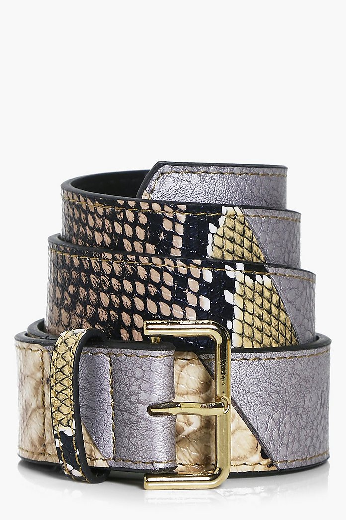 Casey Multi Fabric Boyfriend Belt