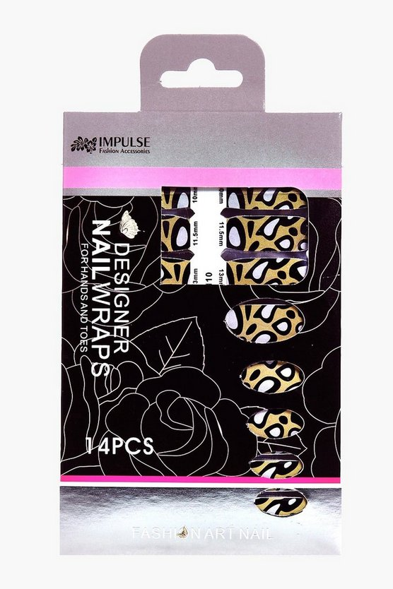 Halloween Large Leopard Print Nail Wraps