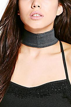 Eva Thick Denim Adjustable Choker