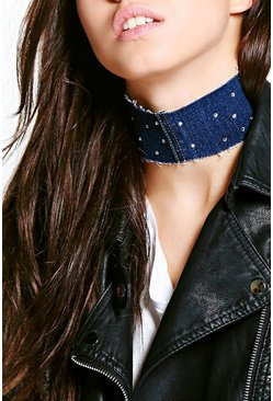 Erin Thick Embellished Adjustable Choker