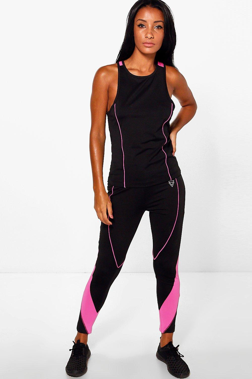 Annie Fit Panel Running Leggings black