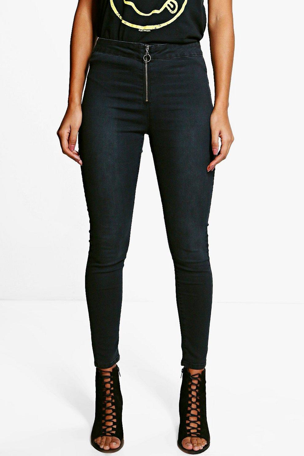 Womens Multi-Zip Skinny Jeans Boohoo DbPS6bpDh