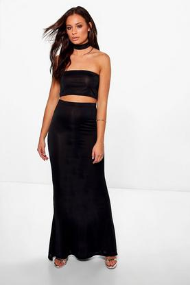 Ashley Choker Bandeau and Fish Tail Maxi Skirt