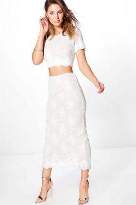 Lianne Midi Lace Co-ord