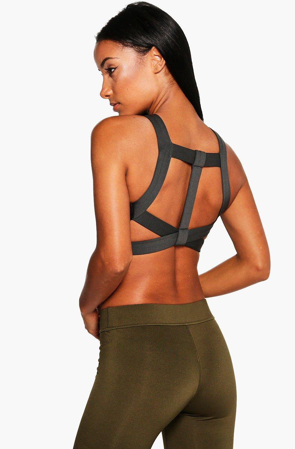 Product photo of Fit t bar sports bra black