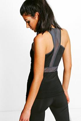 Esme Fit Mesh Panel Running Vest