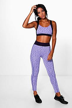 Alex Fit Space Dye Performance Running Leggings