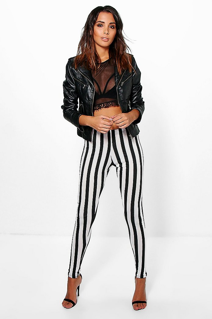 Maren Monochrome Striped Leggings