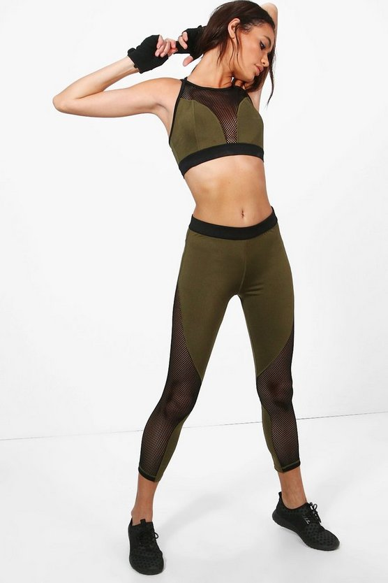 Rosie Fit Mesh Panel Running Leggings