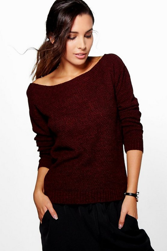 Hallie Marl Moss Stitch Jumper