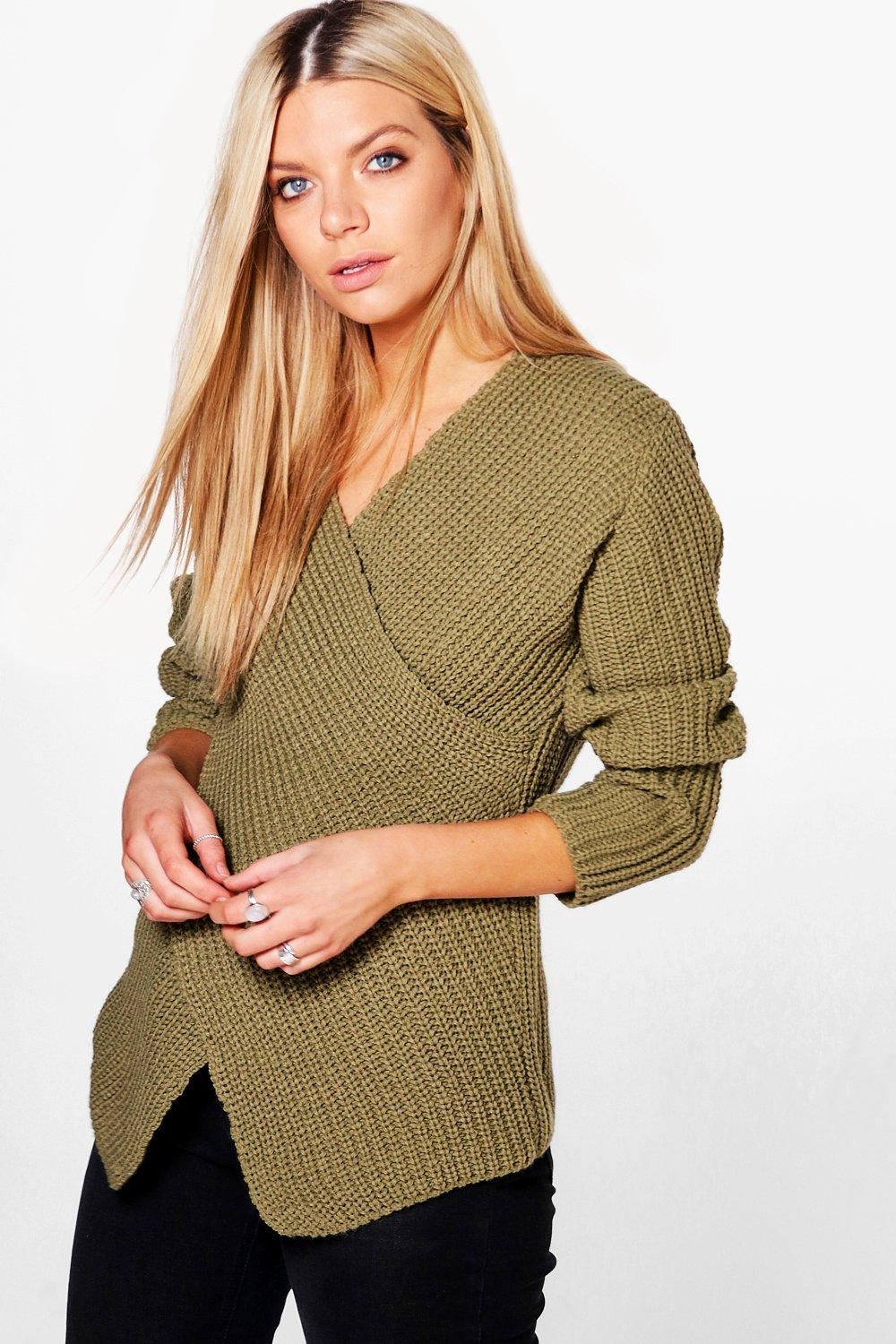 Faye Cross Front V Neck Jumper