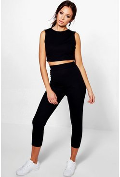 Cara Crop Legging Knitted Loungeset