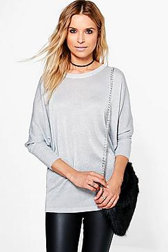 Zoe Metallic Oversized Jumper