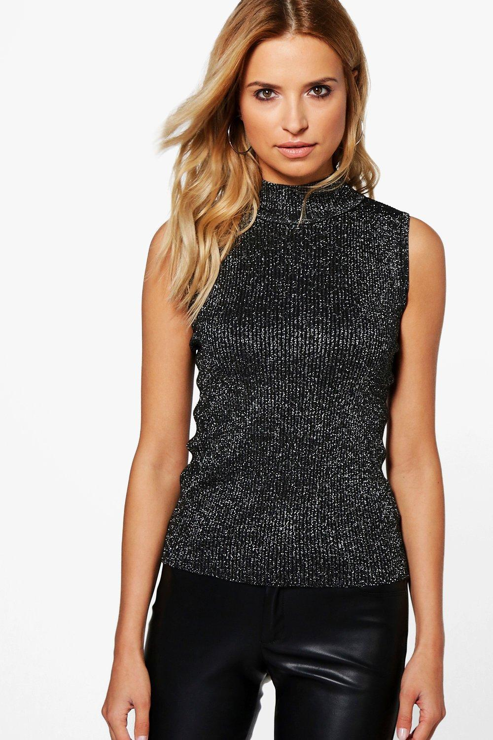 Grace Metallic Rib Knit Tank