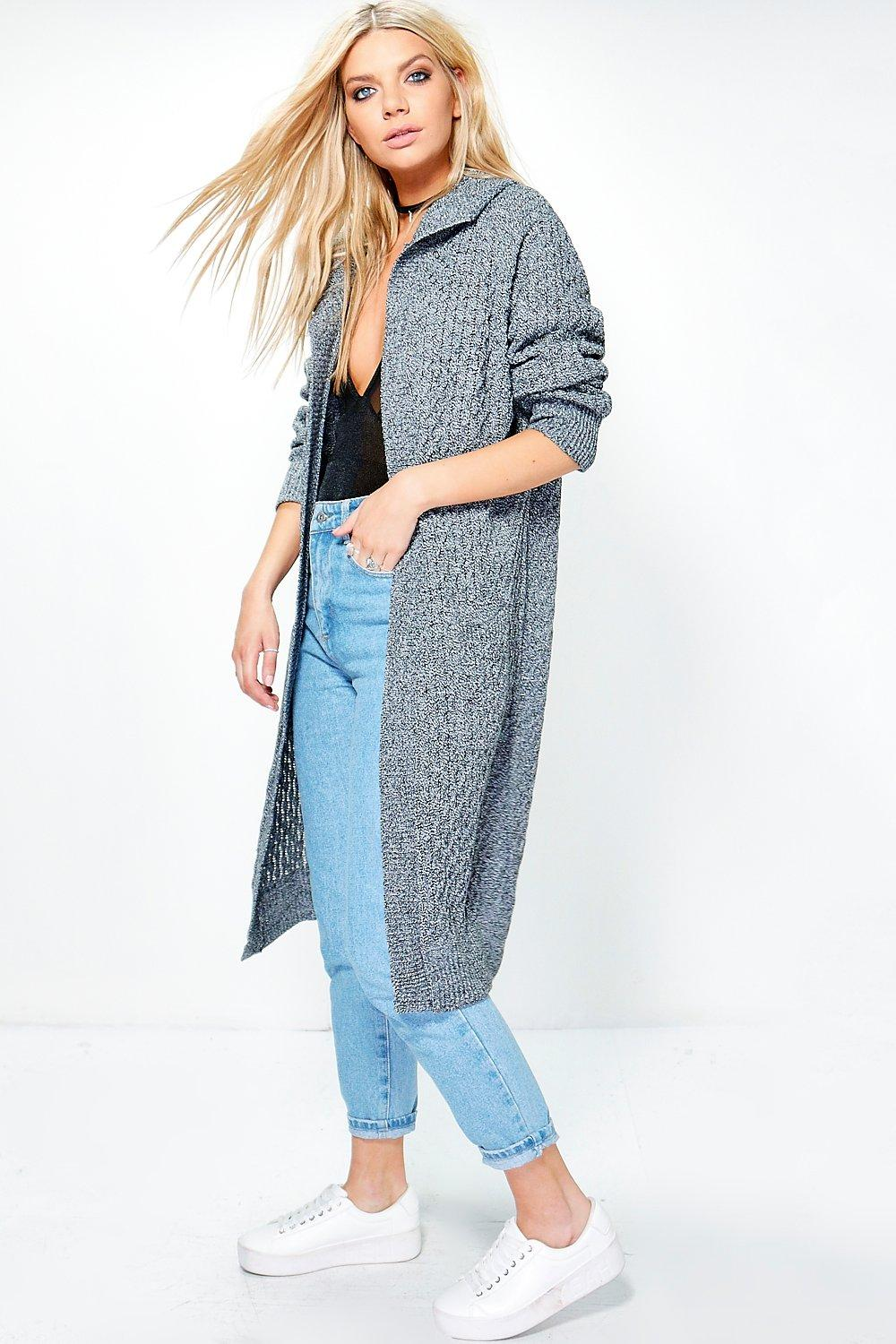 Jennifer Hooded Cable Midi Cardigan
