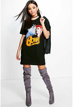 Katie Bowie License T-Shirt Dress