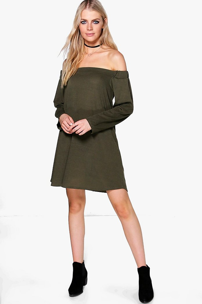 Asha Oversized Off Shoulder Knit Dress