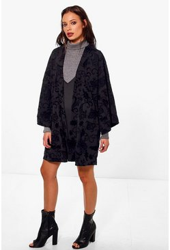 Boutique Anna Velvet Burn Out Kimono