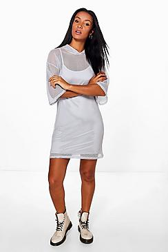Stacey Mesh Hooded Dress