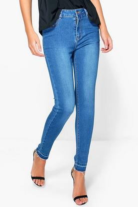 Kellie Let Down Hem Skinny Jeans