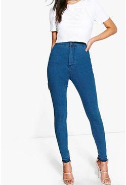 Lara Let-Down Hem Tube Jeans