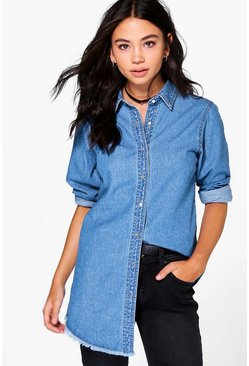 Lina Raw Edge Denim Shirt