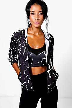 Amy Fit Marble Sports Jacket
