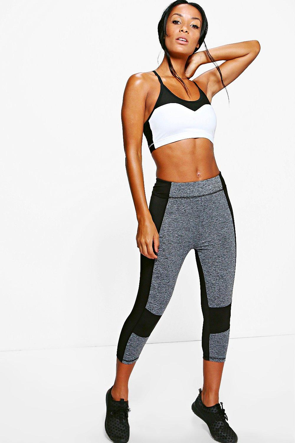 Alisha Fit Capri Running Leggings black
