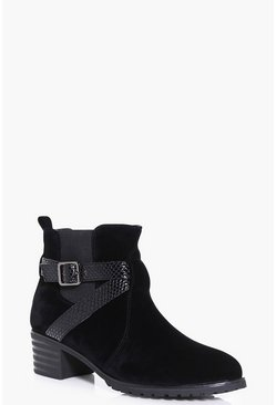 Ruby Wrap Strap Cleated Chelsea Boot