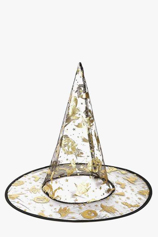 Lucia Metallic Halloween Witch Hat