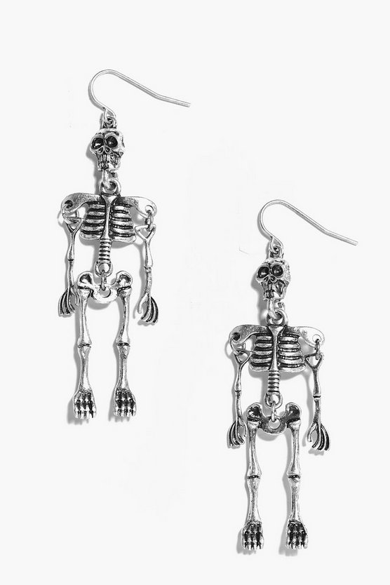 Lizzie Halloween Skeleton Earrings