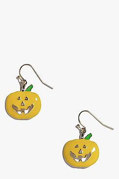 Alyssa Halloween Pumpkin Earrings