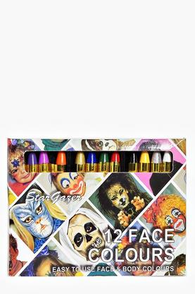 Halloween 12 Pack Face Coloured Crayons