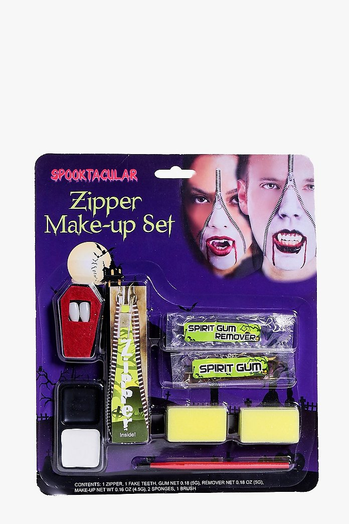 Halloween Vampire Zipper Face Make Up Kit