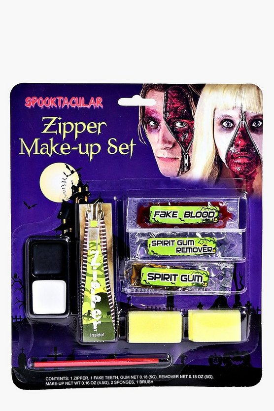 Halloween Zombie Zipper Face Make Up Kit
