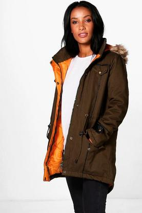 Liz Parka With Piping Detail