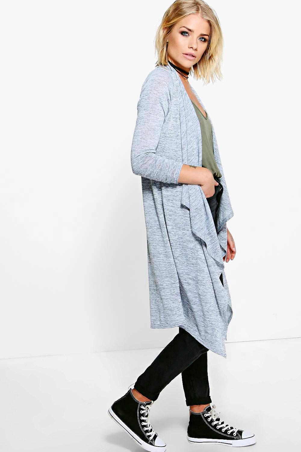 Grace Maxi Waterfall Cardigan | Boohoo