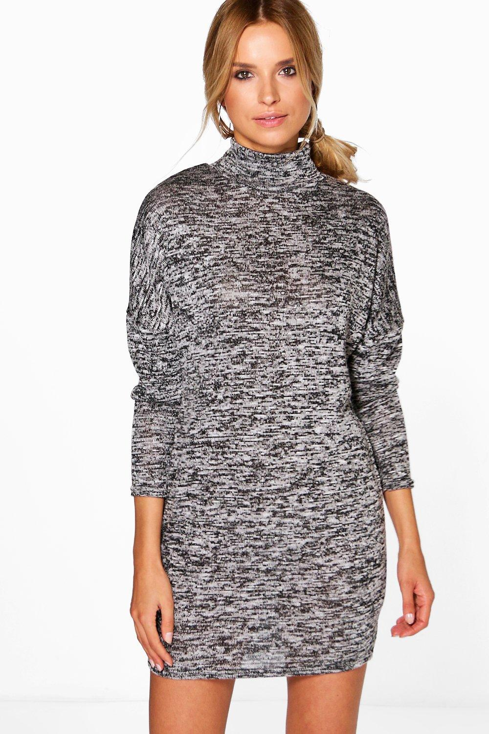 Caroline Turtle Neck Knit Lounge Dress
