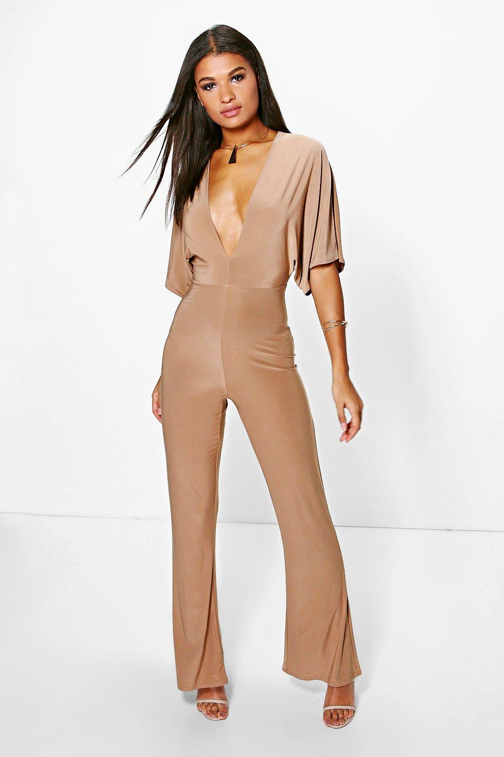 Mia Plunge Neck Jumpsuit