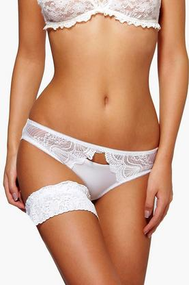 Lyla Lace Bow Trim Garter