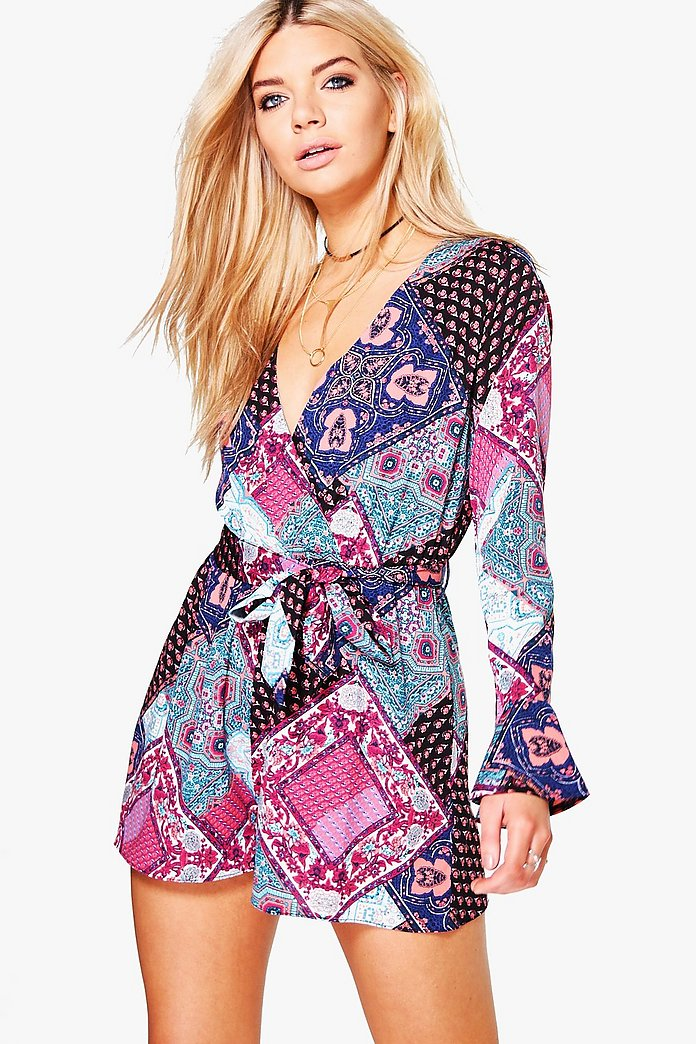 Louise Wrap Front Playsuit