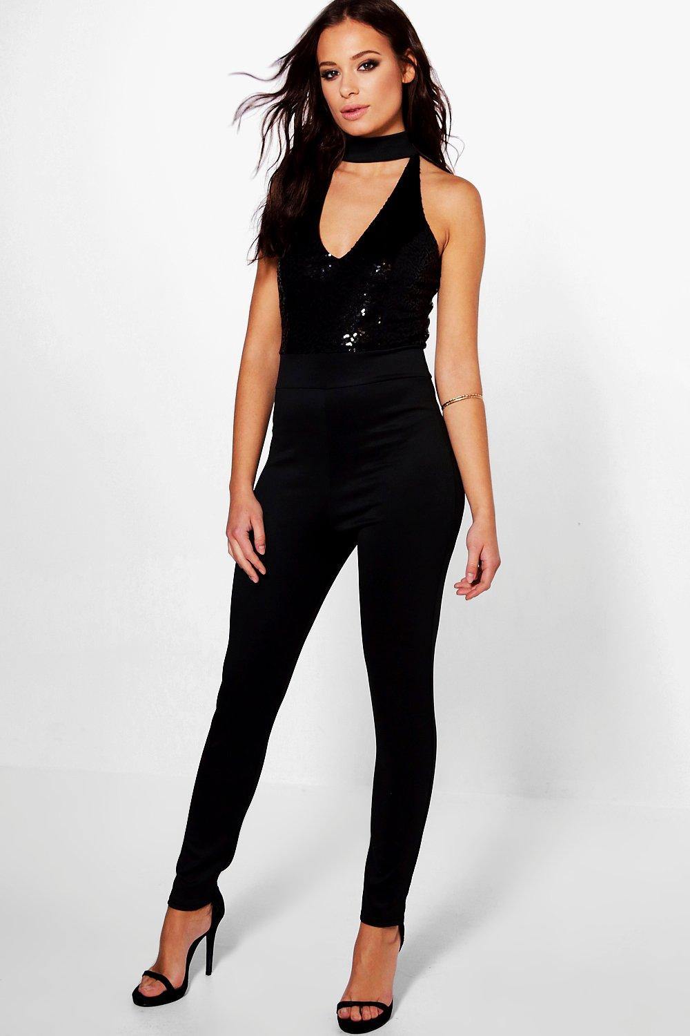 Joana Sequin Top Skinny Leg Jumpsuit