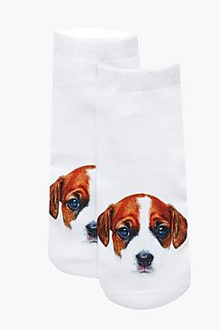 Libby Jack Russel Puppy Ankle Socks
