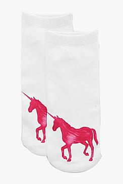 Skye Pink Unicorn Ankle Socks