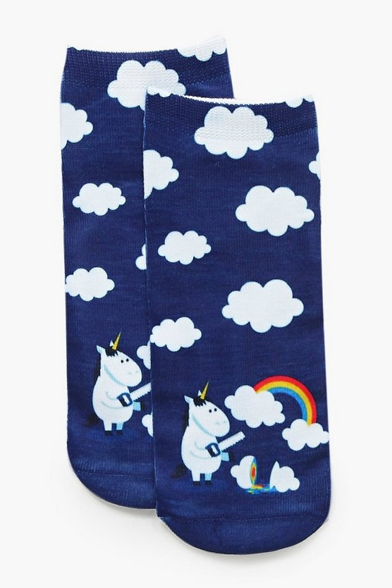 Lauren Unicorn Rainbow Ankle Socks
