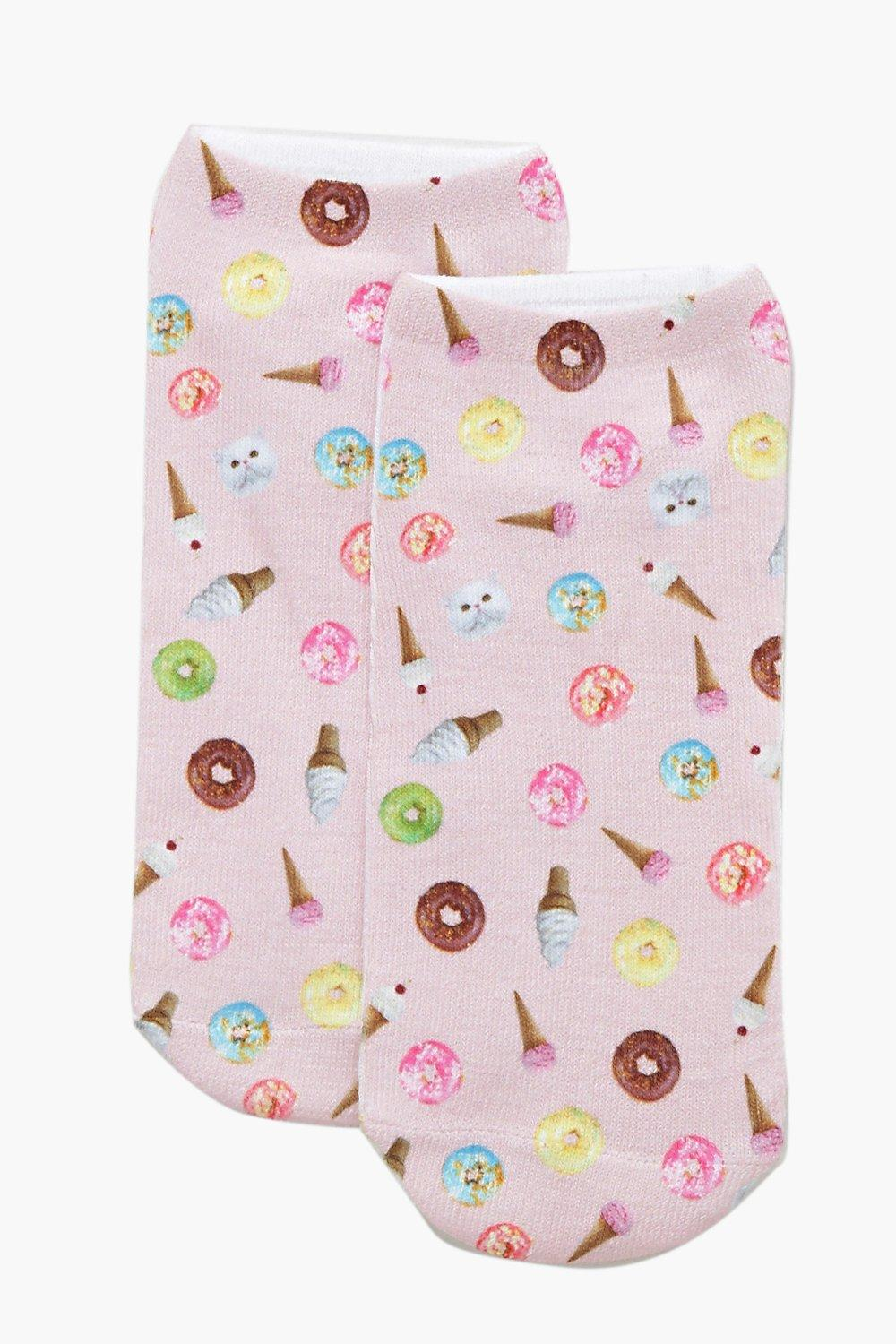 Nicole Ice Cream & Donuts Ankle Socks