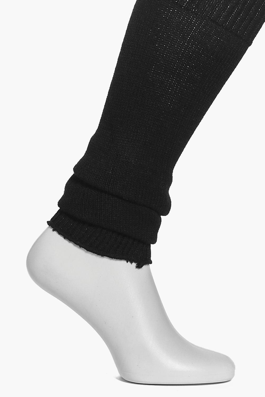 Knitted Ballet Legwarmers black
