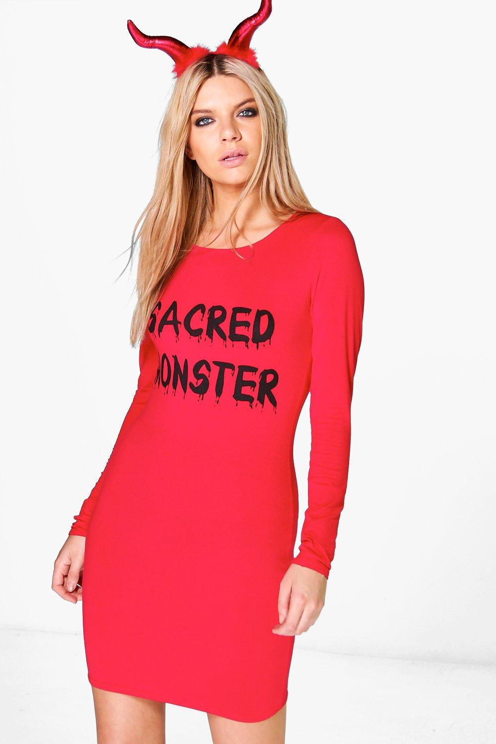 Vi Halloween Sacred Monster Bodycon Dress