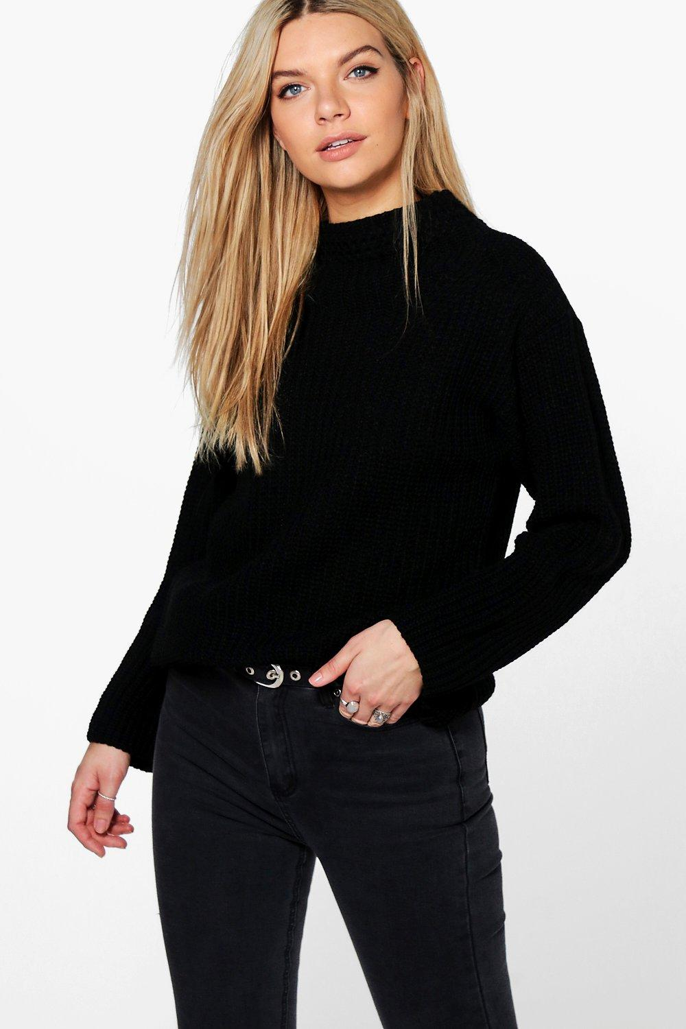 Phoebe Chunky Funnel Neck Jumper