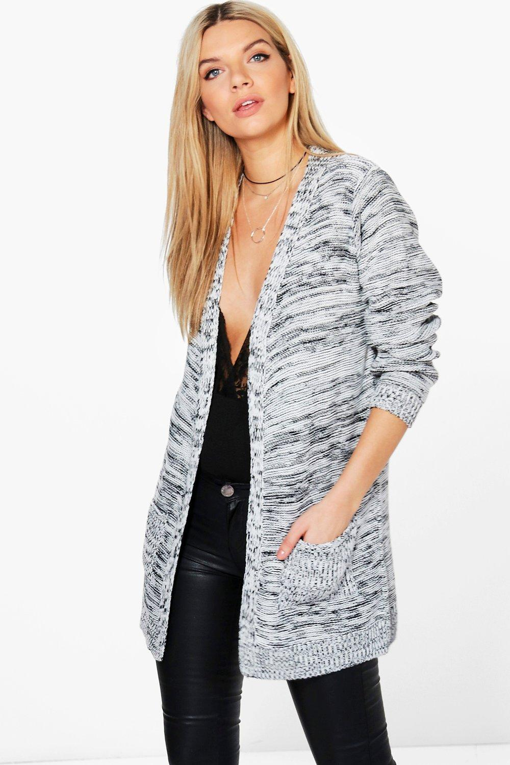 Zoe Marl Edge To Edge Cardigan